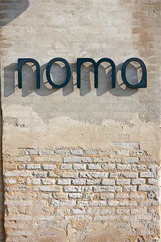 Great font - menu cover inspiration - Noma Restaurant, Copenaghen, 2012