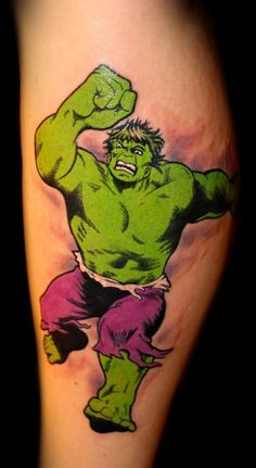Marvel Hulk tattoo by Chris 51 of Area 51 Tattoo in Springfield, OR & Epic Ink on A&E