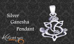 Classy 925 sterling silver Ganesha Pendant Buy Now : http://buff.ly/1kc3iy2 COD Option Available With Free Shipping in India