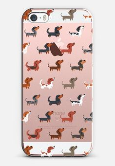 DACHSHUNDS (Clear) iPhone 6s Case by Lili Chin | Casetify