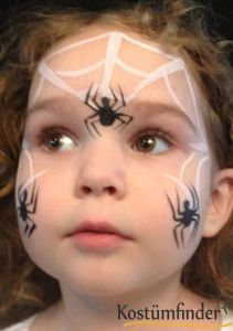 Good instruction how to paint a spider net on a face, for carnival or Halloween ! With step by step information, very helpful. #stepbystepfacepainting