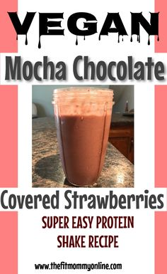 This super simple recipe to so have to try this simple Mocha Chocolate Covered Strawberry Protein Shake! Strawberry Protein Shakes, Easy Protein Shakes, Protein Shake Recipes, Smoothie Recipes, Drink Recipes, Paleo Recipes, Easy Recipes, Mocha Chocolate, Chocolate Covered