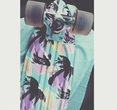 Awesome palm trees colorful penny board.