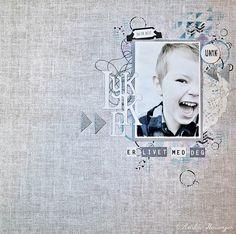 Lykke er livet med deg ♥ Layout laget med produkter fra Papirdesign. Papirene er fra den nye serien Hell og Lykke :)