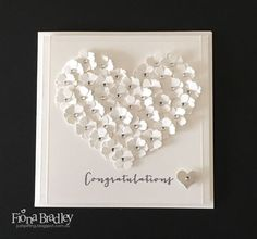 Browse 25 card making tutorials for beautiful handmade wedding cards. These DIY cards are perfect for any happy couple on their big day! Wedding Day Cards, Wedding Shower Cards, Wedding Cards Handmade, Wedding Anniversary Cards, Happy Anniversary, Handmade Engagement Cards, Anniversary Quotes, Love Cards, Diy Cards