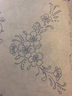 Hand Embroidery Design Patterns, Hand Embroidery Videos, Embroidery Flowers Pattern, Simple Embroidery, Hand Embroidery Stitches, Silk Ribbon Embroidery, Vintage Embroidery, Embroidery Art, Flower Pattern Drawing