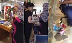 Shoplifter is caught hiding stolen goods inside her hijab