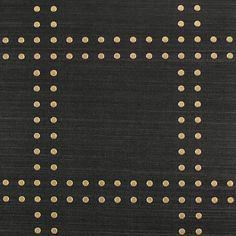 Gold on Black Glazed Abaca Rivets a Specialty & Metallic 5720 - Phillip Jeffries