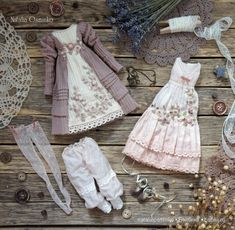 Комплект одежды для авторской куклы Маргариты. Осминко Наталья / Изготовление авторских кукол своими руками, ООАК / Бэйбики. Куклы фото. Одежда для кукол