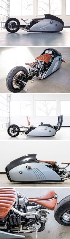 """What do you get when an old-school bike builder and a high-tech industrial designer put their heads together? The answer is a custom bike that's almost too beautiful to be ridden. It's called """"ALPHA"""" – a sharklike custom BMW K75 cruiser with it's eye firmly on the land speed record."""