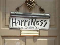 A great reminder from my neighbours front door!