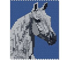 Alfa img - Showing > Beaded Horse Bead Loom Patterns, Peyote Patterns, Beading Patterns, Cross Stitch Patterns, Crochet Patterns, Beaded Banners, Horse Pattern, Cardboard Art, Peyote Beading