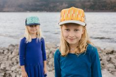 Sisters!  Cute Hats, all hand stitched