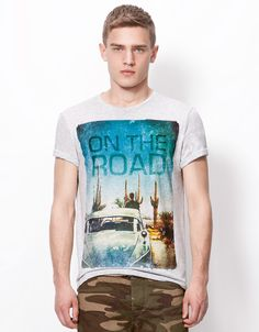 Bershka United Kingdom - ON THE ROAD T-shirt
