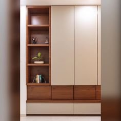 [New] The 10 Best Home Decor (with Pictures) - Crockery unit finished in laminates made in brown and cream laminates with push openers Bedroom Bed Design, Bedroom Furniture Design, Home Decor Furniture, Decor Interior Design, Living Room Tv Unit Designs, Bedroom Cupboard Designs, Crockery Cabinet, Crockery Units, Brown And Cream Bedroom
