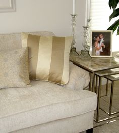 A neutral living room by Inspired Living