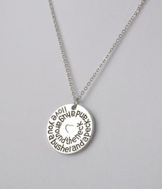 Necklace {I love you a bushel and a hug around the neck} Silver|Add birthstones for $1 each|