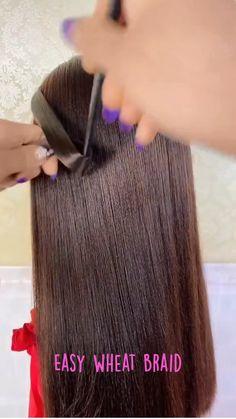 Bun Hairstyles For Long Hair, Curly Hair Tips, Braids For Long Hair, Pretty Hairstyles, Hair Cutting Techniques, Natural Hair Styles, Short Hair Styles, Hair Videos, Hair Hacks
