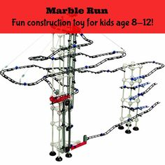 Odyssey Battery-Operated Dual-Motor Marble Run - Advanced, Fun Design Transports Marbles on Elevator! - Contains 550 Pieces; for Builders Age in Marble Runs. Kids Learning Toys, Educational Toys For Kids, Bougainvillea, Construction For Kids, Water Walls, 12 Year Old, Best Christmas Gifts, Old Toys, Building Toys