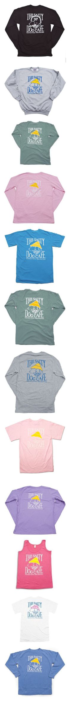 """""""The Salty Dog Cafe Apparel"""" by sperry-topsider ❤ liked on Polyvore featuring long sleeve shirts, sweaters, sweatshirts, shirts, tops, t-shirts, tops/outerwear, tees, basic tees and tank tops"""
