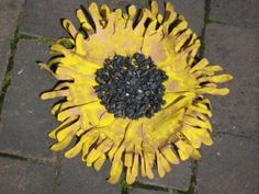 handprint sunflower- make for beginning of school year?