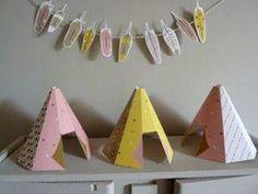 manualidad con niños imprimibles decoracion indios1 Tiendas de indios para tu fiesta. Descargar e imprimir.