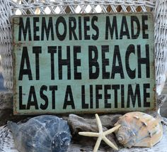 Beach Sign, Memories Made At The Beach, Beach Decor Hand Painted Wood Sign - The Sign Shoppe