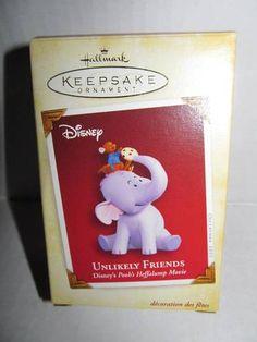 Hallmark 2005 Unlikely Friends Heffalump Roo Keepsake Ornament Pooh | eBay