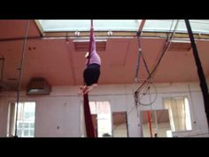 Some skills I should just learn. Aerial Silks - Amazon to Mermaid Drop to Double Knee Hold   odd drop...