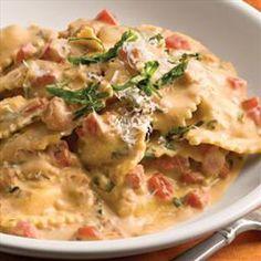 Tuscan Pasta with Tomato Basil Cream on BigOven: Pasta dish