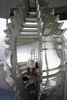 Fourth Order Fresnel Lens at Pemaquid Point Lighthouse, Maine   by nelights, via Flickr