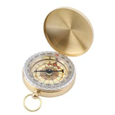 2016 New Outdoor Hiking Camping Accessories Classic Brass Pocket Watch Style Camping Compass Hiking Hot Sale