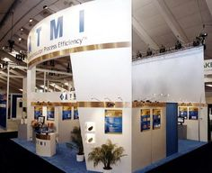 Peninsula Display at Semicon West, designed and fabricated by Blazer Exhibits  Events