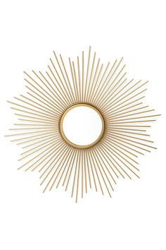 View the Luxe Green and Gold Living Room Inspiration Board by Furnishful for great Living Room Ideas Unique Mirrors, Round Mirrors, Spiegel Gold, Deco Boheme, Metal Mirror, Living Room Inspiration, Photo Displays, Green And Gold, Decoration