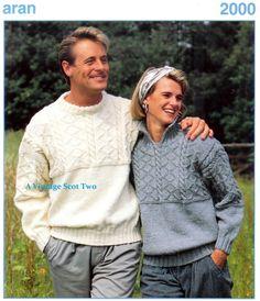 Aran 2000 10 ply Aran Fishermens knit Guernsey by 2VintageScot
