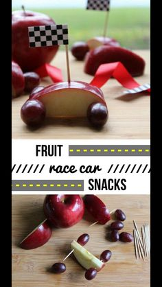 Fruit race car snacks
