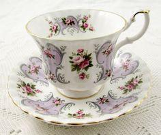 "Royal Albert Love Story Series ""Jennifer"" Tea Cup and Saucer, Vintage Bone China"