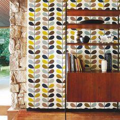 Orla Kiely | UK | House | Wallpaper | Multi Stem Wallpaper (0WALMST501) | Seagreen