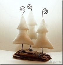 wire and fabric trees