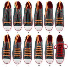 DIY sneaker straight line