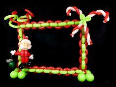 Christmas Balloon Photo Frame
