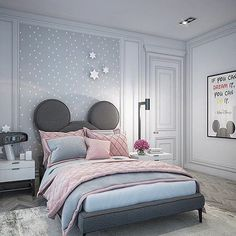 Stunning Superb Disney Bedroom Design Ideas For Your Children To Try Now Cool Kids Bedrooms, Kids Bedroom Designs, Bedroom Bed Design, Home Room Design, Room Ideas Bedroom, Kids Room Design, Bedroom Themes, Bedroom Decor, Casa Disney