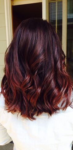 Cherry cola hair for fall