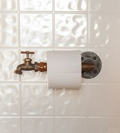 Faucet Toilet Paper Holder by jackspade21 on Etsy, $47.00