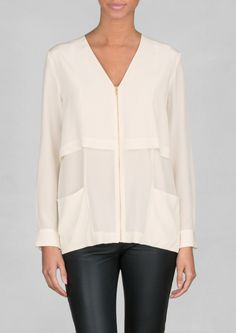 & Other Stories | V-shaped Silk Blouse