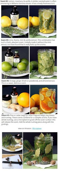 DIY Delicious scents - http://www.theyummylife.com/Natural_Room_Scents