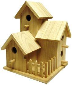 Tri-Level Birdhouse w/4 Holes