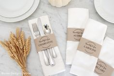 Editable Thanksgiving Place Cards
