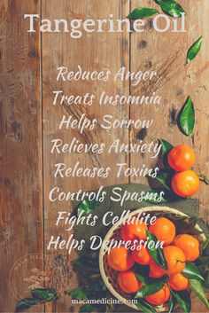 Tangerine Oil uses and benefits