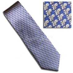Squirrel Pattern Tie (navy) for groomsmen